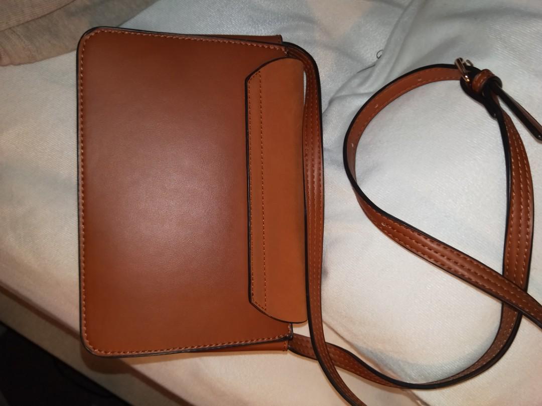 Tan side bag