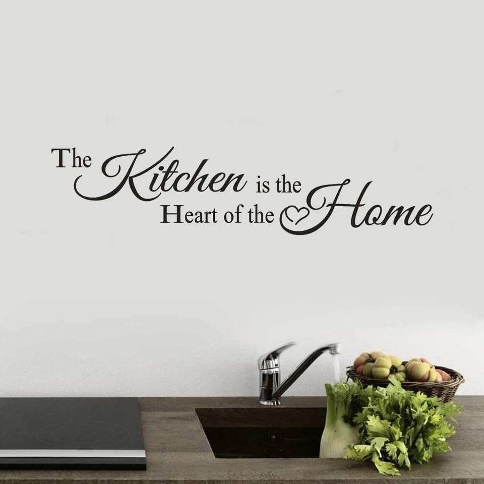 The Kitchen is the heart of the home Letters Wall Decor Decal ... 24b34f1bb