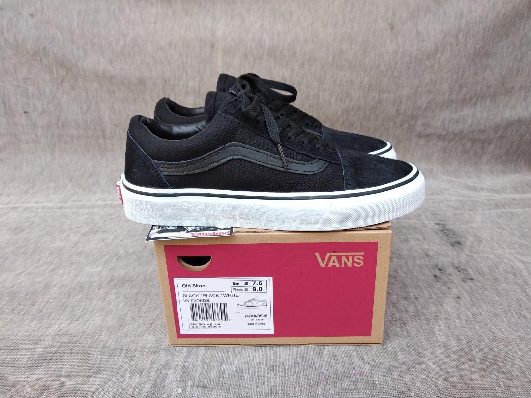 Vans Oldskool Black Dope, Fesyen Pria