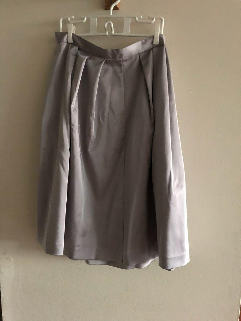 Zara Silver A Line Skirt