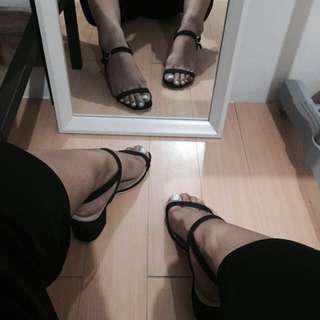 Black Suede Block Heels REPRICED