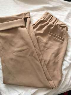 Nude dress pants. Size 8