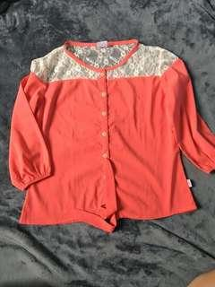 HotKiss Orange Blouse for Women (Size L)