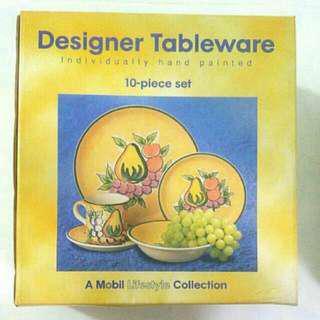 Esso Mobil Designer Tableware 10-piece Set