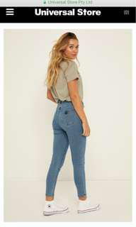 Abrand high rise skinny jeans