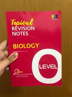 O level Biology Revision Book Notes