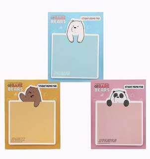 [PO] We Bare Bears Sticky Notes