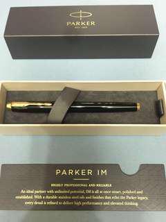 PARKER派克鋼筆 IM金屬黑配金墨水筆