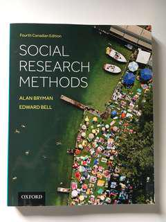 SSH 301: Social Research Methods 4th Canadian Edition