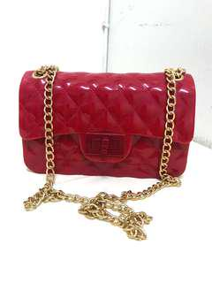 JELLY CHAIN CLUTCH BAG
