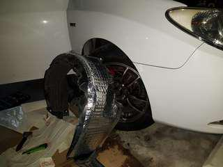 Hyundai Avante Front Arch SoundProofing