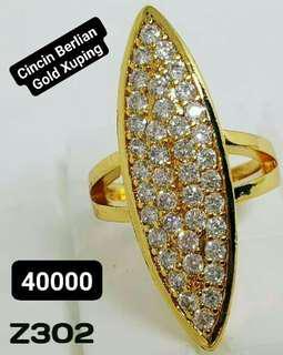 Perhiasan Imitasi Cincin Berlian Gold Xuping Lapis Emas