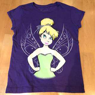 Disney Tinkerbell Girls Purple T-Shirt with an attitude