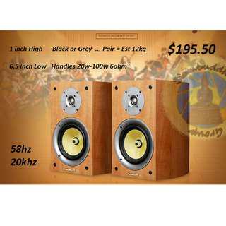 Brand New Nobsound VF301 Bookshelf Speakers 1 inch 6.5 inch Black or Classic Wood