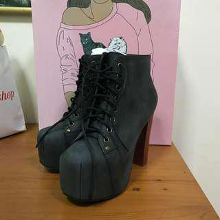 Jeffrey Campbell Charcoal Boots