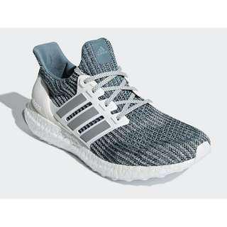 Authentic Parley x Adidas Ultraboost Limited Edition Silver / White