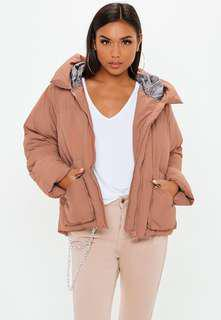 Missguided ultimate hooded puffer jacket