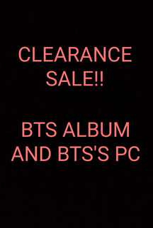 BTS CLEARANCE SALE!!