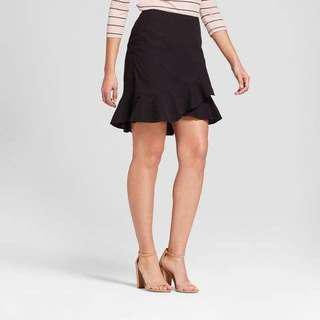 BNWOT Beautiful Black Ruffle A New Day Skirt