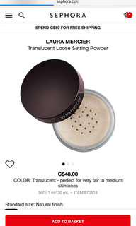Laura Mercier ;Translucent setting powder