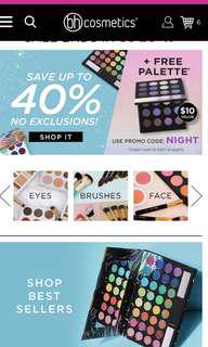 PREORDER BH COSMETICS 40% OFF SALE