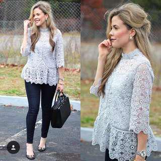 $200/2 chicwish lace grey top #SELLITNOW