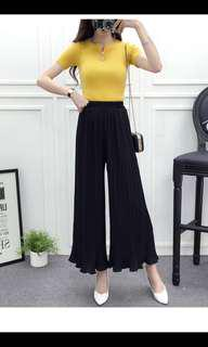 BN Black Pleated Culottes