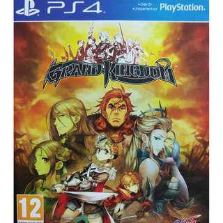 Used Playstation 4 PS4 Grand Kingdom Region 2