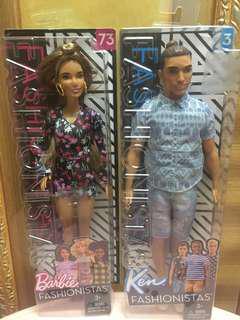 Barbie fashionista couple set