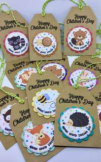 🚚 Happy Children's Day Hang Tags - Woodland Animals