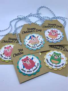 🚚 Happy Children's Day Hang Tags - Bears