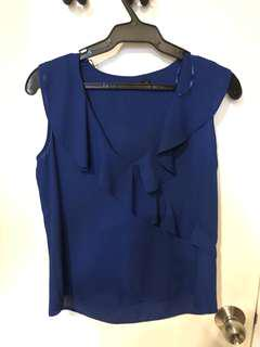 Zara Royal Blue Sleeveless Top (US XS)
