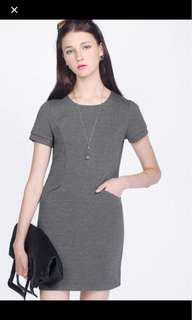 Fayth Blair pocket dress grey