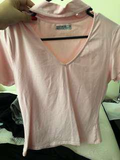 Pink cotton on top