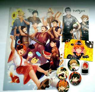 Haikyuu!! Button Badges, Charms, Posters, Art Prints & Artbook #MidSep50