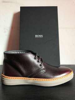 Hugo Boss Shoes Leather Gretam Dark Red