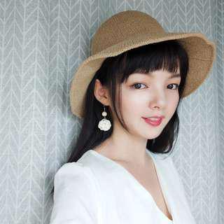 BNIB Cream Bamboo Earrings