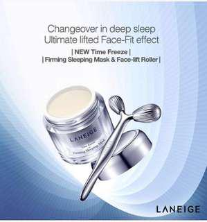 [Bundle Deal] - Laneige Time Freeze Firming Sleeping Mask And Face Fit Roller
