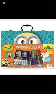 Crayola Minions Inspiration Art Set / Craft Planner Colouring Book