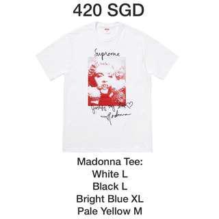 FW18 Supreme Madonna tee