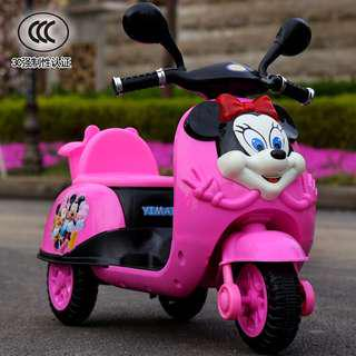 🚚 Minnie Mouse Ride On Kids Bike Battery Operated