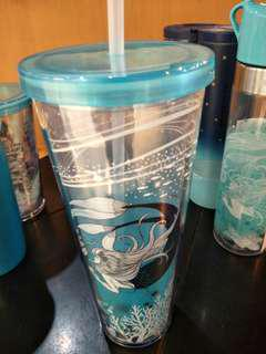 🆕Starbucks cold cup 24oz swim siren
