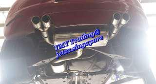 #jetexexhausts_vw. #jetexexhaustsasialink Across the border of return owner of Scirocoo 1.4tsi replaced Resonated Jetex quad tip catback system to Non resonated catback system.