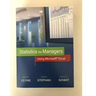 Statistics For Managers Using Microsoft Excel 8th Edition