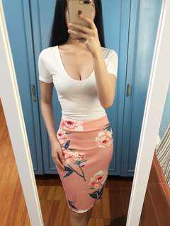 Hannah Set • Thick Cotton Shirt • Garterized Skirt
