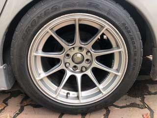 XXR 15X8.25JJ ET20 with Toyo Proxes R1R & Michelin PS3