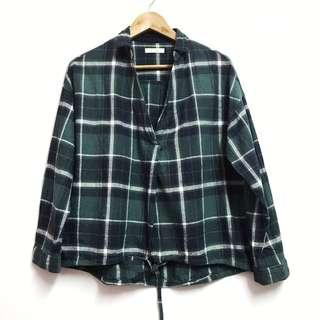 Tie Front Shirt in Green