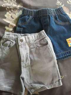 Calvin Klein and Sesamestreet shorts