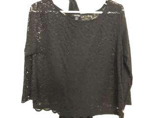 Brand new women's lace black top