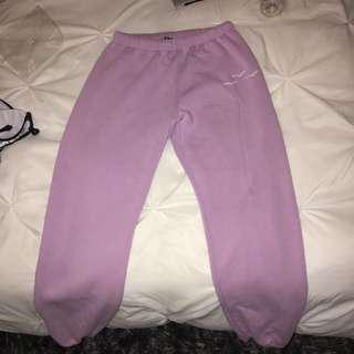 Magenta lazy pants
